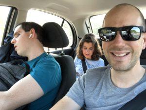Das Team während der Fahrt